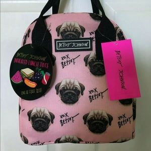 Authentic Betsey Johnson insulated Lunch tote bag